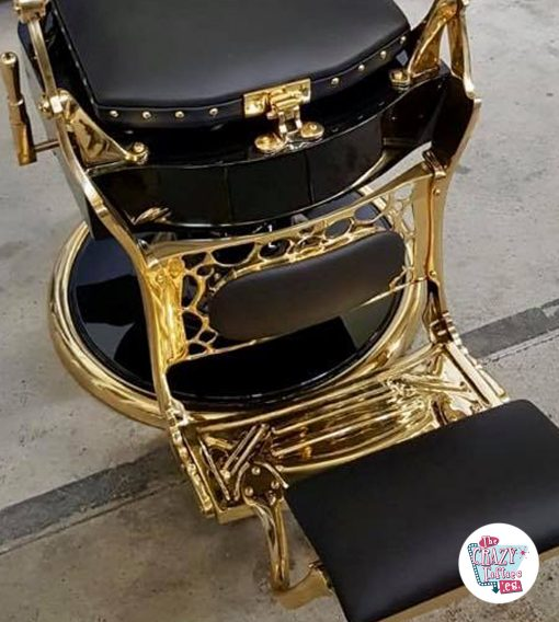 Gold Finish Fußstütze Gold Vintage Barber Chair