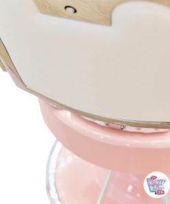 Klassischer Lux Princess Pink Friseurstuhl