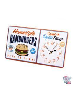 Burger Orologio da parete