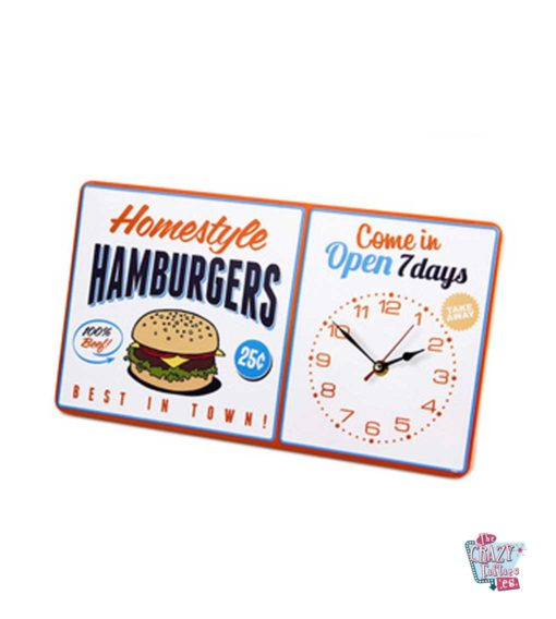 Burger Wall Clock