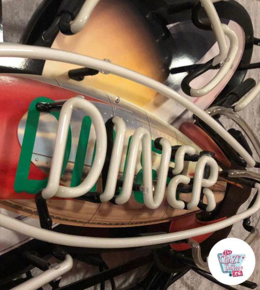 Neon Diner Rocket Space plakatdetalje