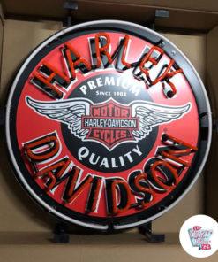 Neon Harley-Davidson Circle av skiltet
