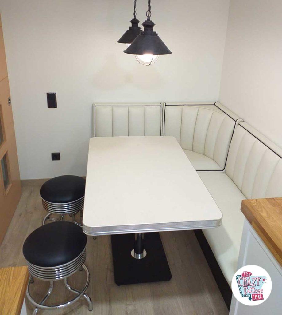 Set panca da cucina ad angolo