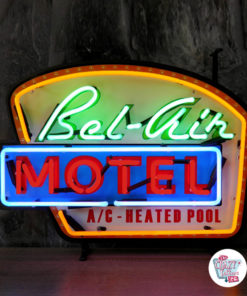 Neon Bel-Air Motel Sign