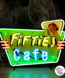 Neon Fifties Cafe-plakat