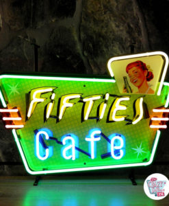 Neon Retro Fifties Cafe