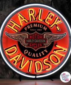 Neon Sign Harley-Davidson Circle