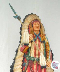 Wild West Indianer Kopfschmuck mit Speer