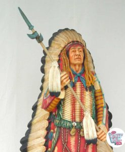 Wild West Indian Head Decoration with Spear