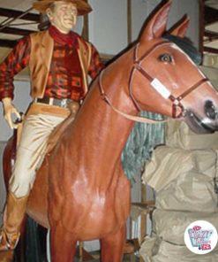 Wild West West dekorasjon John Wayne på hesteryggen