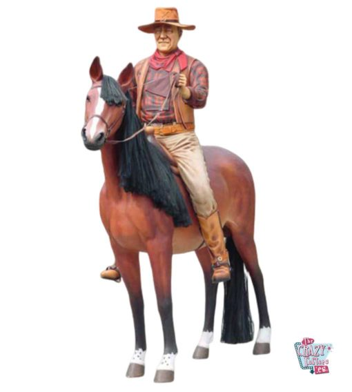 Wild West John Wayne decorazione a cavallo