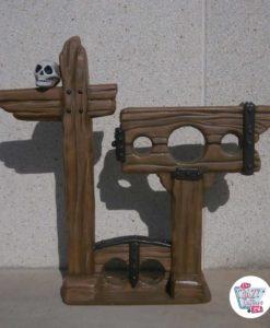 Fotokalleg dekorasjon av tortur med sjakler