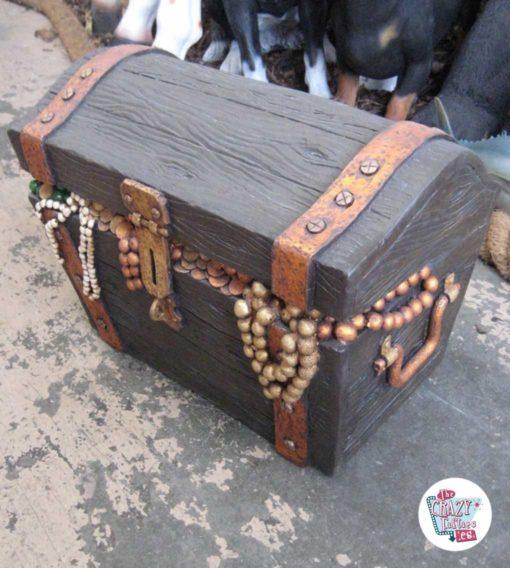 Figur Dekorasjon Pirate Treasure Chest
