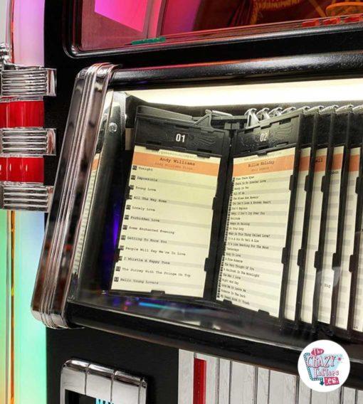 Jukebox Rock-ola CD Bubbler sort bibliotek