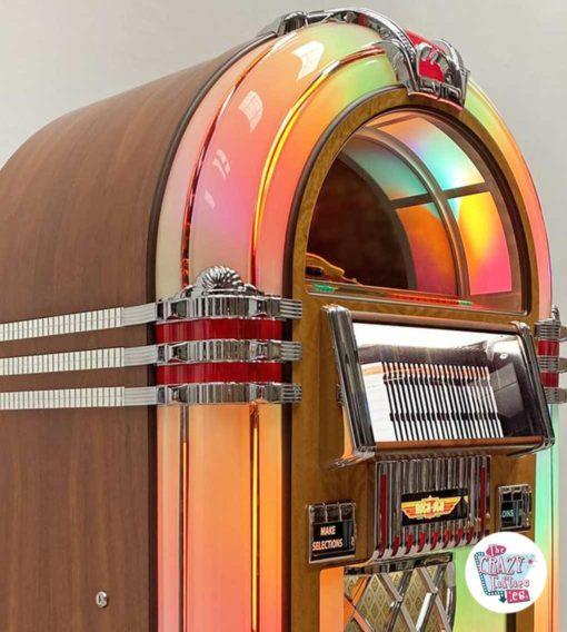 Jukebox Rock-ola CD Bubbler valnød