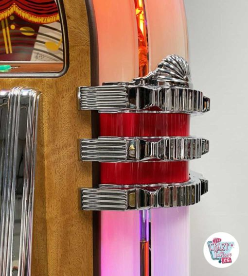 Jukebox Rock-ola CD Bubbler valnød krom