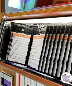 Jukebox Rock-ola CD Bubbler valnødbibliotek
