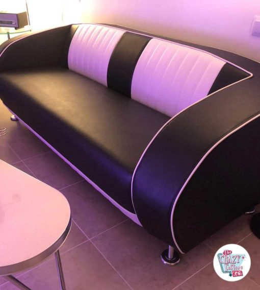 Retro Vintage Sofa SF02CB Black Outlet