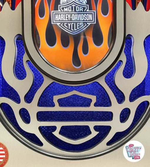 Jukebox Rock-ola CD Harley Davidson Flames