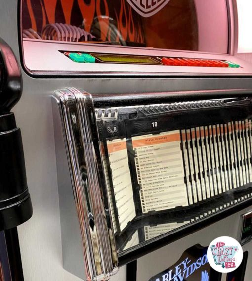 Jukebox Rock-ola CD Harley Davidson Flames bibliotek