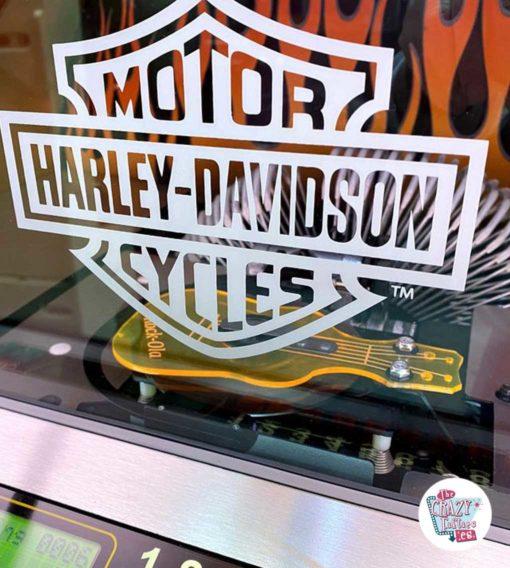 Jukebox Rock-ola CD Harley Davidson Flames logo