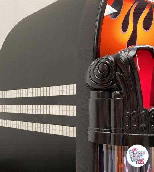 Jukebox Rock-ola CD Harley Davidson Flames spejl