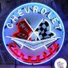 Neon Chevrolet Corvette Plakat
