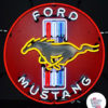 Neon Ford Mustang-plakat