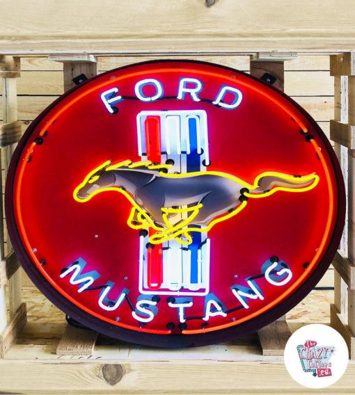 Neon Ford Mustang bokseplakat