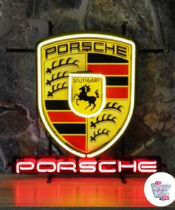 Neon Porsche skilt