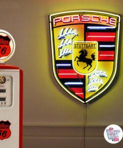 Neon Porsche XL sign