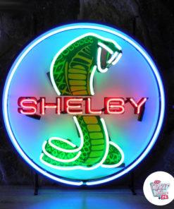 Insegna Neon Shelby Cobra Blue