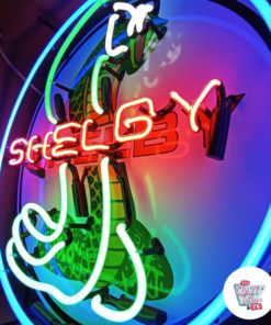 Neon Shelby Cobra Red Side Sign