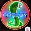 Neon Shelby Cobra plakat rød