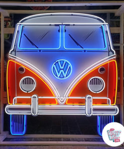 Neon VW Bully T1 på skilt