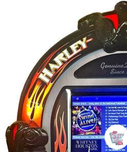 Rock-ola Digital Jukebox Harley-Davidson Flames detaljer
