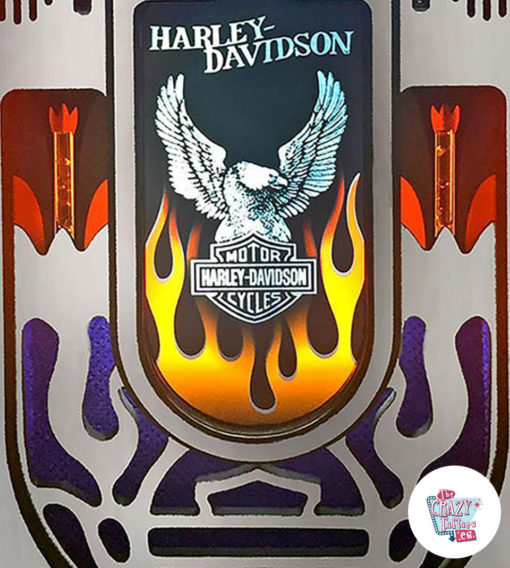 Jukebox Rock-ola Digital Harley-Davidson Flames brand