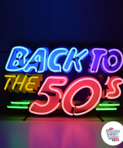 Neon Back To the 50's Poster