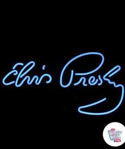 Neon Elvis Poster
