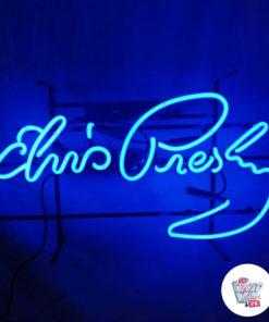 Neon Elvis Real Poster