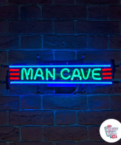 Neon Man Cave Poster