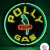 Neon PollyGas-skilt