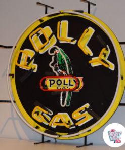 Neon PollyGas plakat til venstre