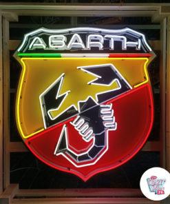 Neon Abarth XL-skilt