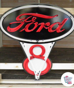 Neon Poster Ford V8 off