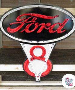 Neon Ford V8 av skilt