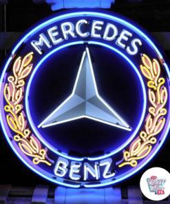 Neon Mercedes Benz XL Poster
