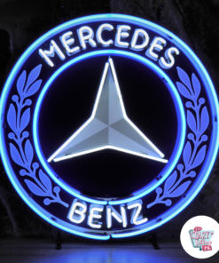 Neon Mercedes Benz skilt