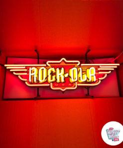 Neon Rock-Ola Jukeboxes lit sign