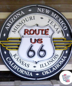 Neon Route 66 All States XL Off Sign